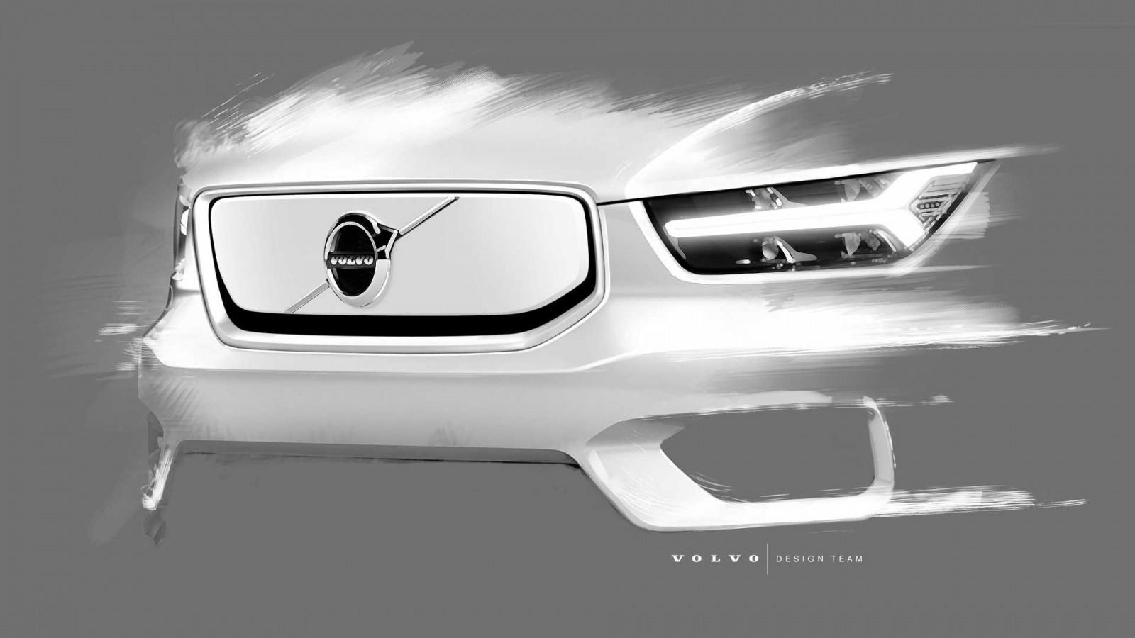 Первый электрокар Volvo показал багажник под капотом