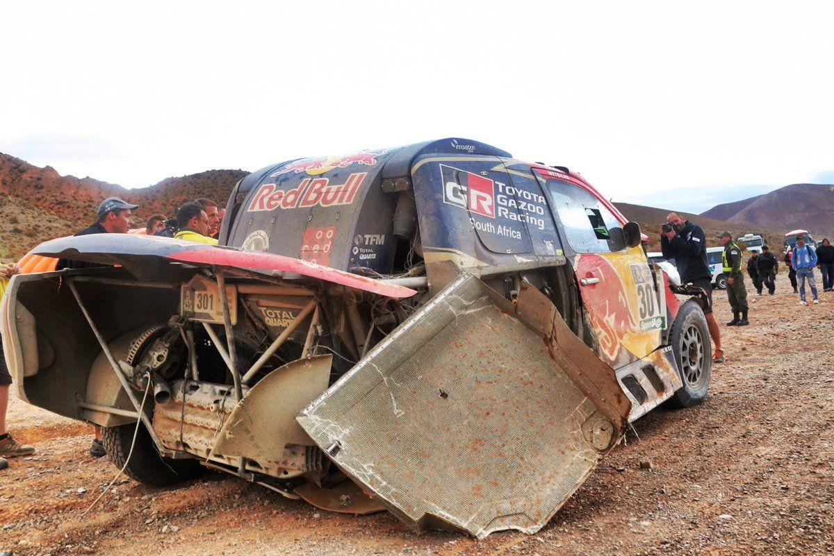 Дакар 2017— Нассер Аль-Аттия отказался отборьбы из-за аварии надороге