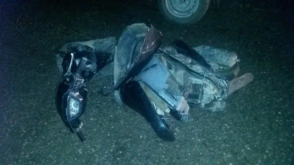 ВКраснодарском крае тринадцатилетний шофёр скутера без прав пострадал вДТП