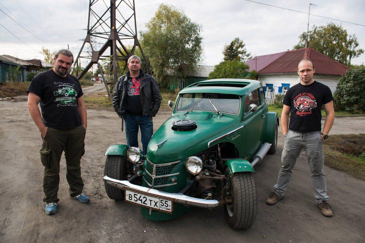 Сибиряк собрал изстарого «Москвича» гоночный автомобиль