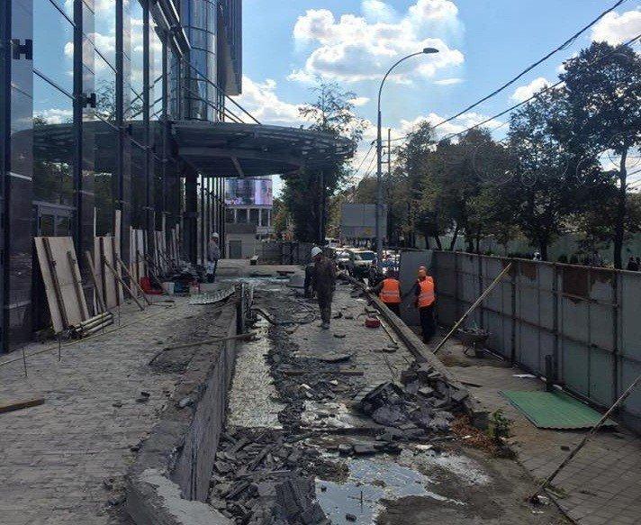 ВКраснодаре закроют участок тротуара наулице Красной