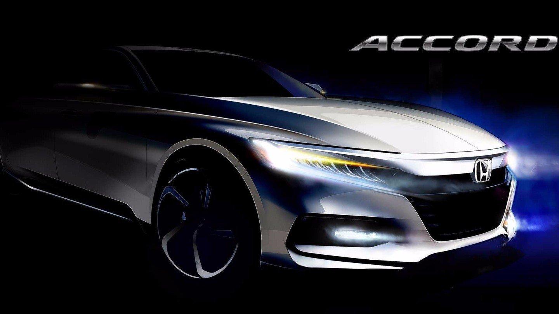 Хонда обнародовала первое официальное изображение нового Аккорд