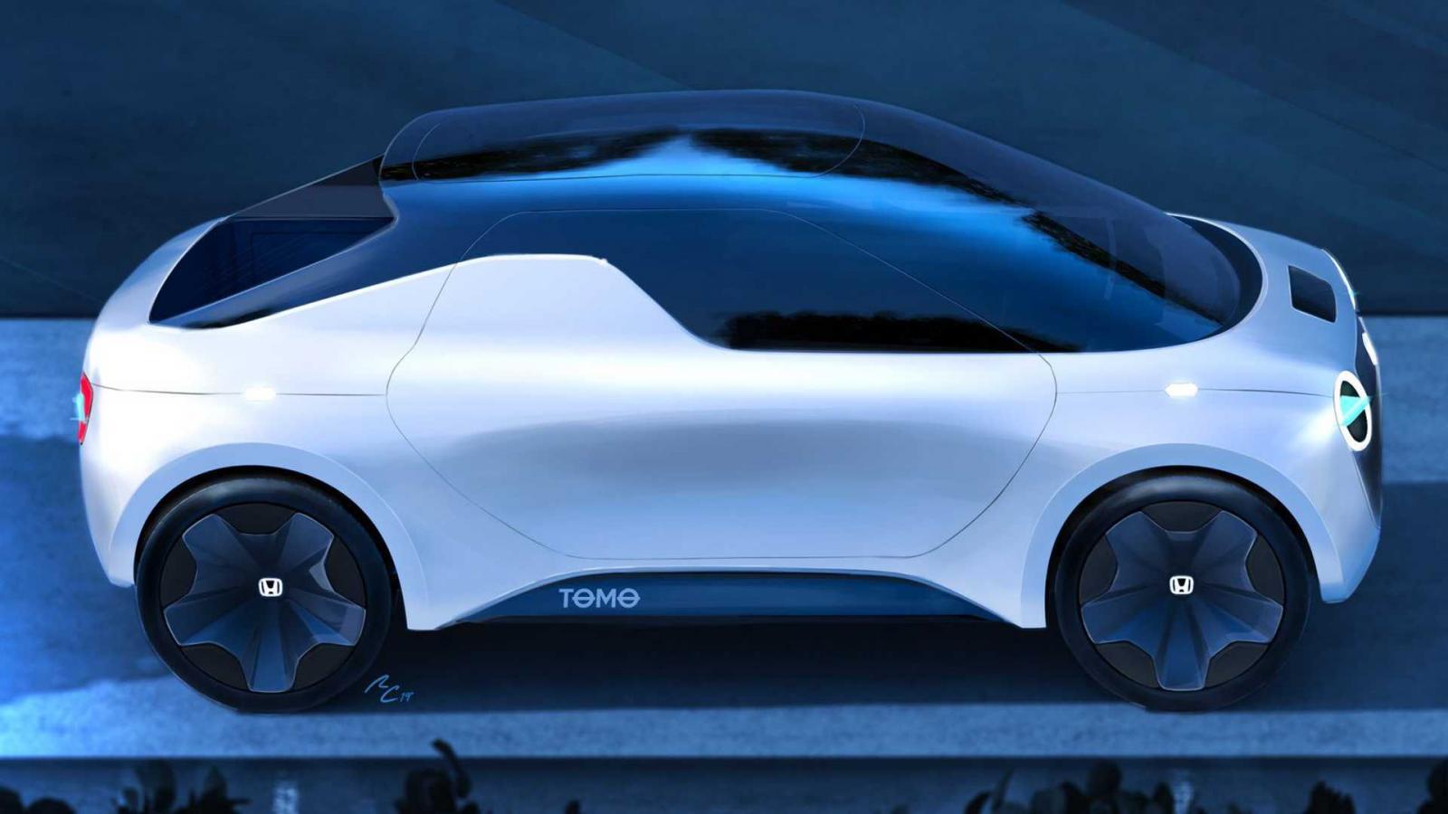 Компания Хонда рассекретила дизайн концептуального электромобиля