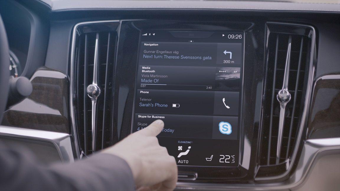 Автомобили Вольво научились звонить по«Скайпу»