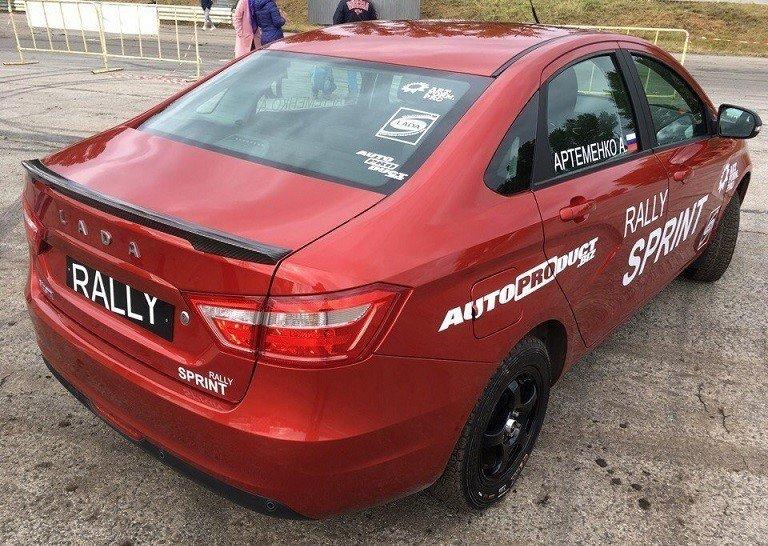 Седан lada Vesta получил кросс-версию Rally Sprint