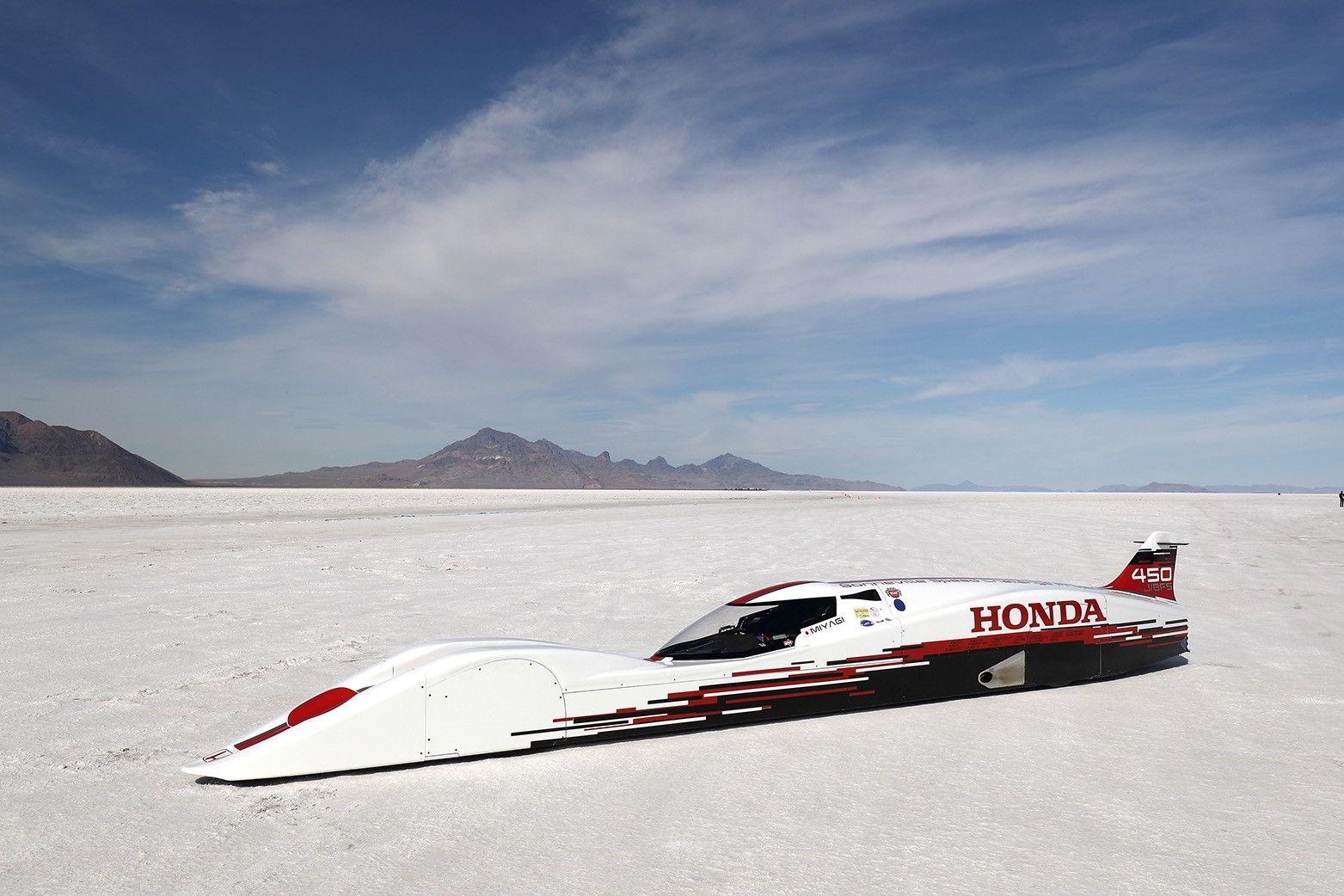 660-кубовая Хонда Streamliner побила один изрекордов Бонневиля