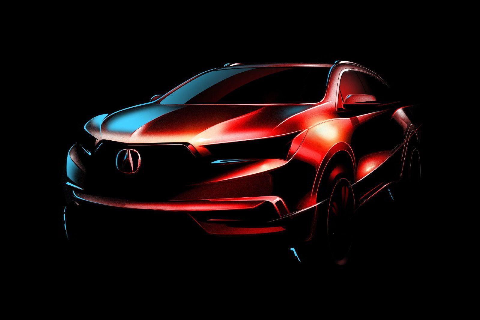 Acura MDX 2017 на первом изображении — дебют в конце марта