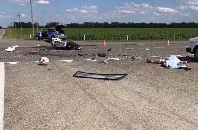 НаНово-садовой после столкновения синомаркой умер мотоциклист