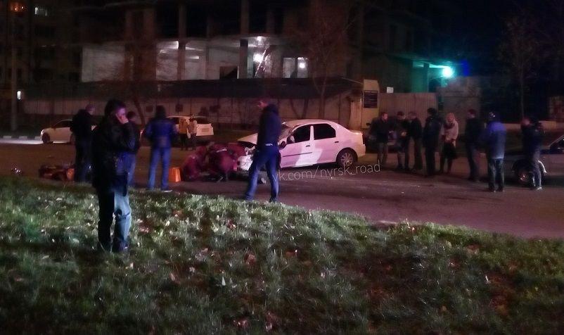 ВНовороссийске вДТП погибли молодой мотоциклист иего пассажир