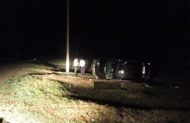 НаКубани после опрокидывания автомобиля погиб мужчина