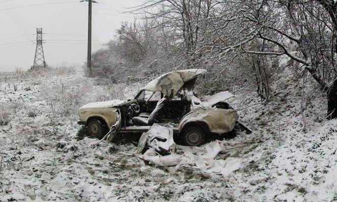 ВКрымском районе вДТП ввремя снегопада погибли три человека