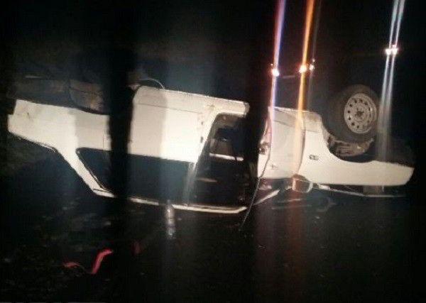 ВЛабинском районе вперевернувшейся «девятке» умер шофёр