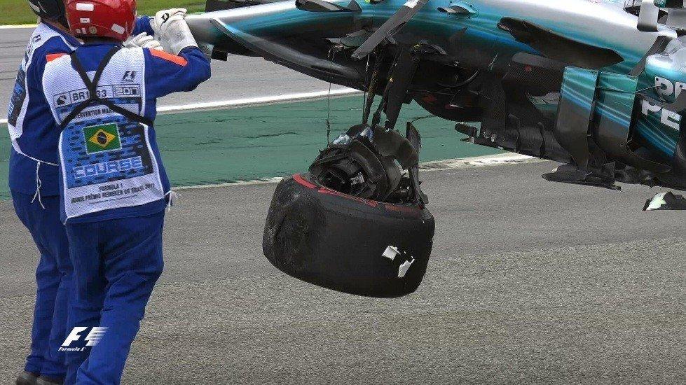 Пилот «Мерседеса» Боттас одержал победу квалификацию Гран-при «Формулы-1» вБразилии