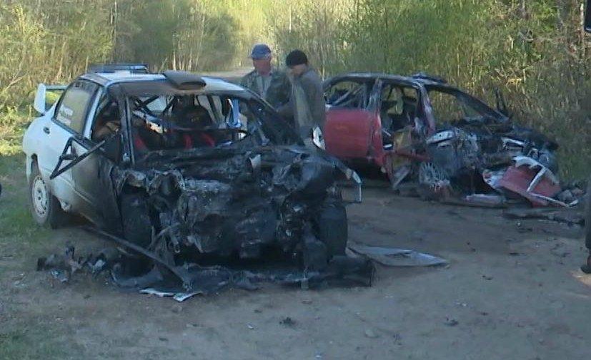 ВПсковской области экипаж гонщика Лукьянюка попал в трагедию