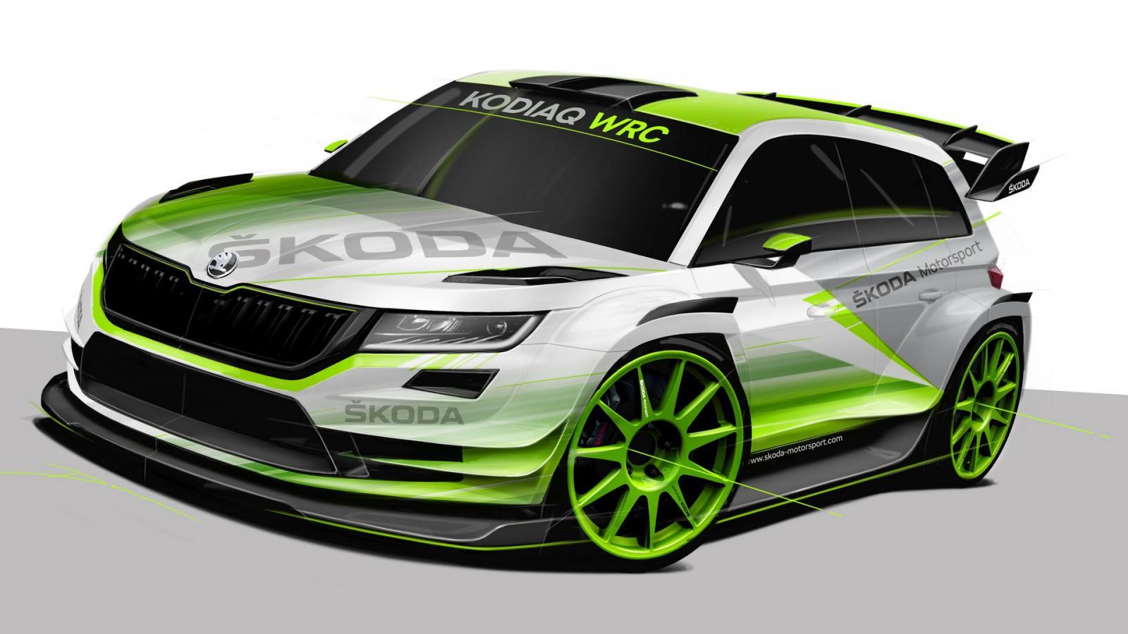 Вглобальной паутине появились первые фотографии Шкода Kodiaq WRC 2018