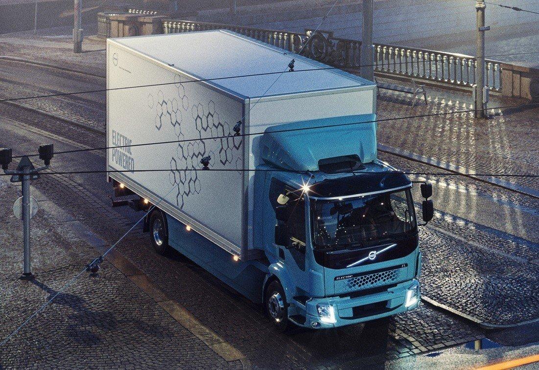 Вольво представил 1-ый электрический грузовой автомобиль FLElectric