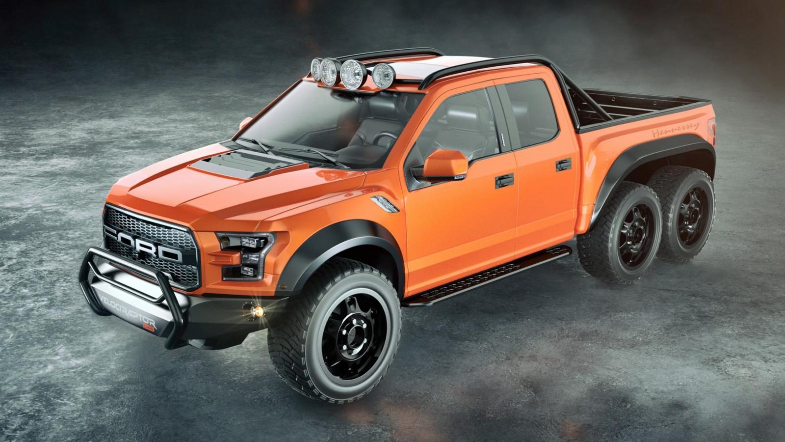 Вателье Hennessey сделали шестиколёсный пикап VelociRaptor 6x6 за349 000 долларов