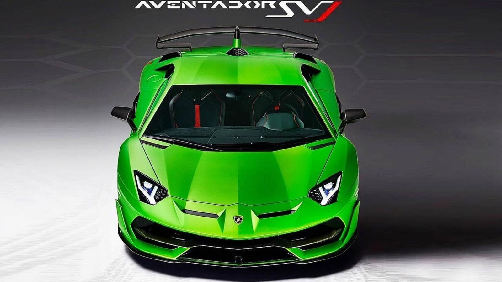Lamborghini Aventador SVJ частично рассекретили