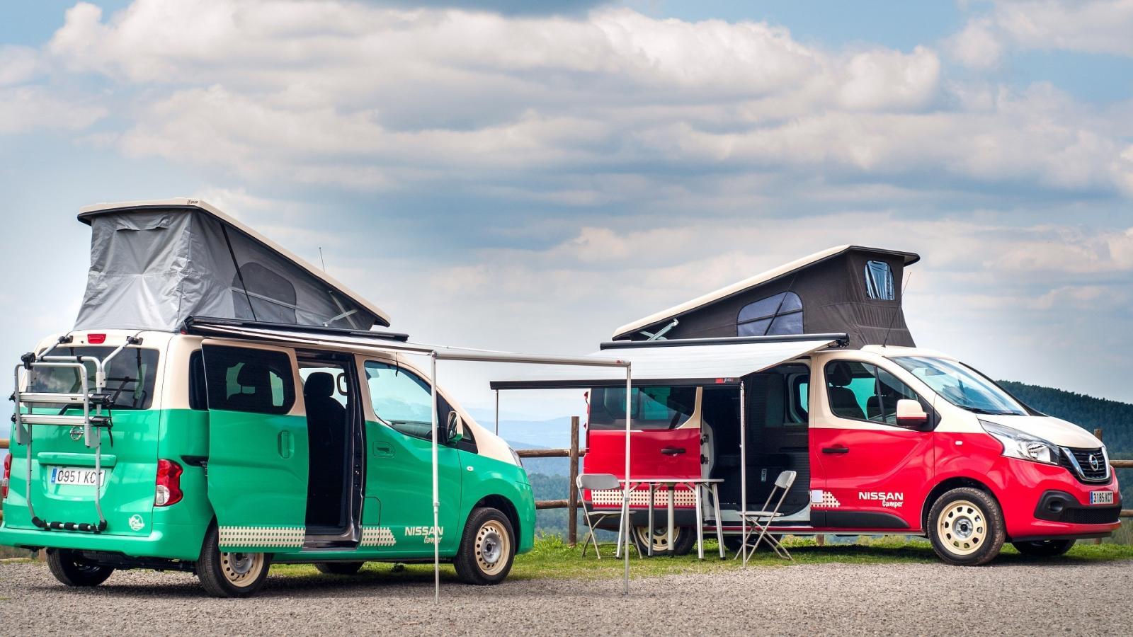Компания Ниссан превратила два собственных фургона вкемпервэны
