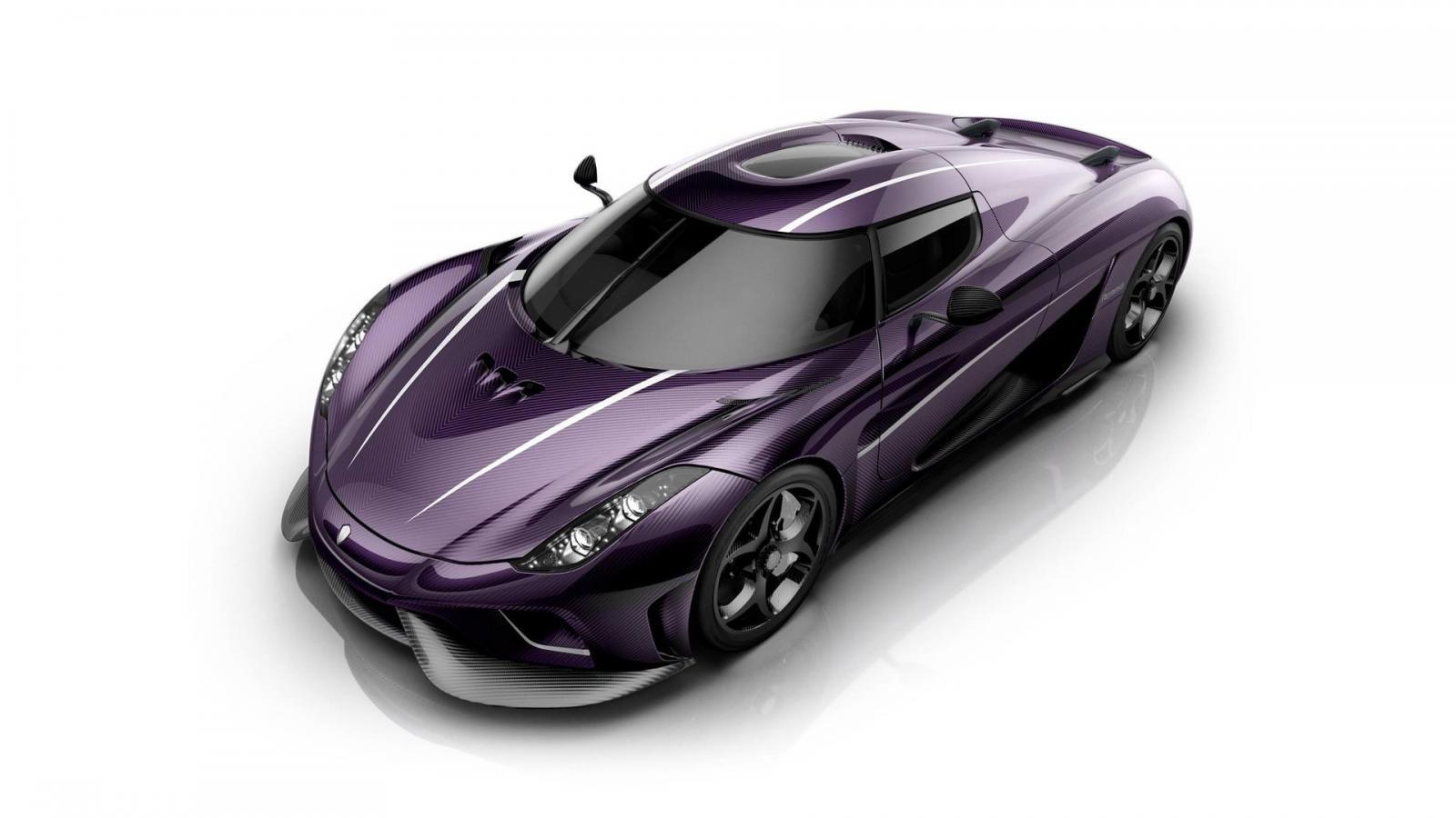 Koenigsegg представила особую версию суперкара Regera, названную Purple Rain