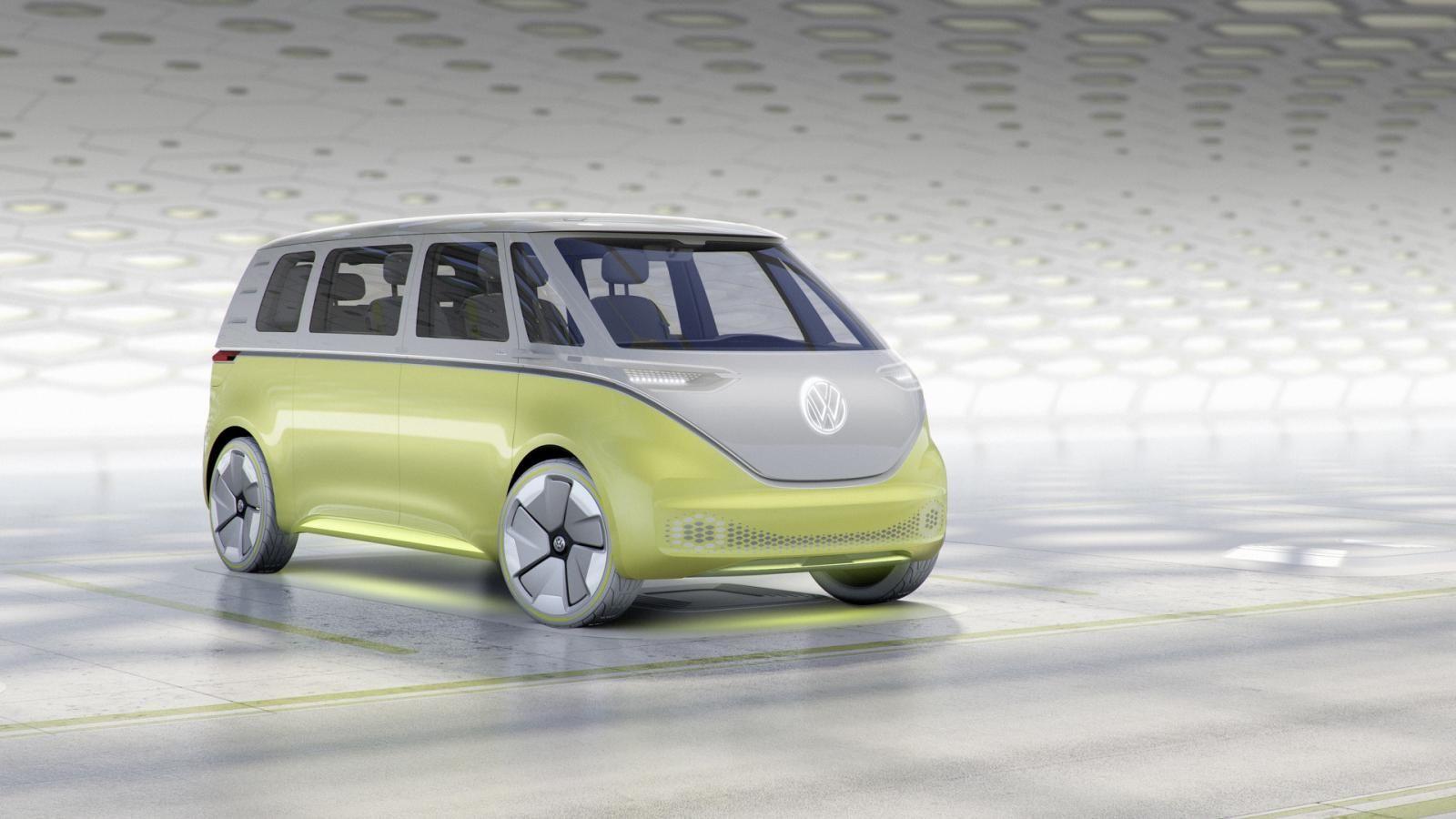 VW представил концептуальный автомобиль беспилотного микроавтобуса I. D. Buzz